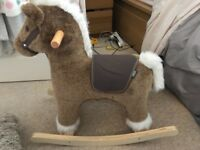 Mamas & Papas Brown Rocking Horse Excellent Quality