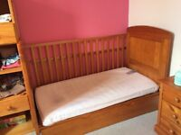 Babies R U's Paloma 3 position Cot Bed with pull out drawer and cot top changer