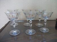 Beautiful set of 6 eternal beau sundae cocktail glasses