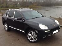 PORSCHE CAYENNE S 4.5 PETROL/LPG AUTO BLACK ** ALL TURBO S EXTRAS!!! ++ LONG MOT!!! ++ LPG!!! **