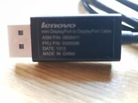 Lenovo mini DisplayPort to DisplayPort cable