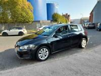 2013 13reg Volkswagen Golf 1.6 Tdi Bluemotion SE 5 Door Black Good Runner