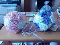 four flower bouquets