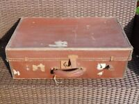 Vintage brown suitcase. REDUCED