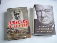 6 History Books. Hardbacks/paperbacks.