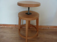 Solid Oak adjustable Stool 3 availalble chair