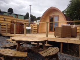 Romantic Glamping Break with a 2 person wood burning hot tub from £180 for 2 nights - 2 people