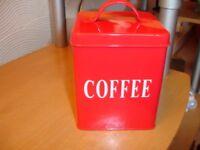 Coffee Storage Tin
