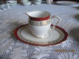 ROYAL STAFFORD cream jug, saucer and oval plate