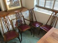 Mid Century High Wheel Back Chairs