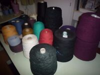 Coned yarn suitable for hand or machine knitting