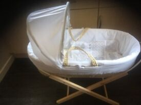 Moses basket from mothercare