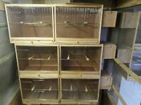 Breeding cages with nest boxes
