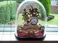 antique french figural clock by japy freres.8 day striking movement