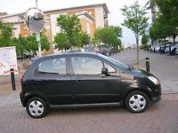 2010 chevrolet matiz 1.0 litre 5 door, black, 12 month mot, 69k 2 owner, hpi clear 100%