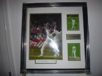 "ANDREW ""FREDDIE"" FLINTOFF SIGNED FRAMED DISPLAY 29 x 27"" (NEW)"