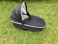 Black Oyster pram system carrycot £15