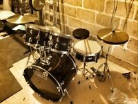 Upgraded Mapex Tornado III 22'' Rock Fusion Drum Kit in Black