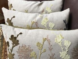 Three Cushions from M&S stylised velvet floral design