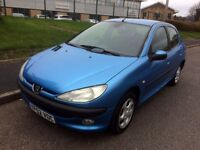 Peugeot 206 2.0 HDi GLX 5dr (a/c), DIESEL, FULL SERVICE HISTORY, Runs and drives great, MOT June