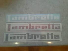 Lambretta stickers