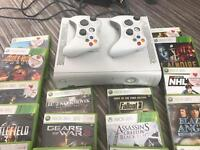 Xbox 360 white bundle with 16 games