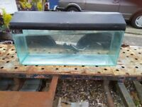 3ft fish tank & lid with light