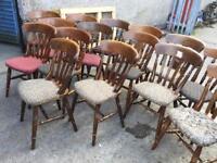Pub restaurant chairs x17