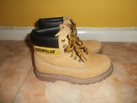 size 6 CATERPILLAR tan boots - like new as worn once - see photos