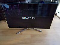 SAMSUNG SMART 40 INCH LED TV - DAMAGED SCREEN - MODEL UE40H6400AK - FAULTY