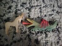 Ostheimer wooden Dragon and Unicorn