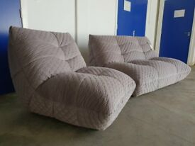 BRAND NEW MODERN DESIGNER KINK GREY FABRIC SUITE 2 SEATER SOFA & LOUNGE CHAIR DELIVERY AVAILABLE