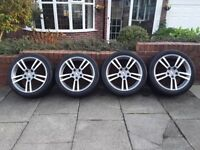 Porsche Turbo GenII 2 Style Alloy Wheels & Tyres. 20 Inch. Nearly New. EXCELLENT CONDITION.
