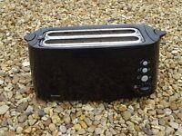 Black Four slice Toaster