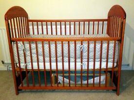 Cot bed (wooden) 120 x 60 cm