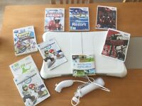 Nintendo wii fit, board and various games