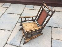 19th Century Childs Rocking Chair