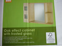 Bathroom cabinet Oak effect new and unused in original packing H500 W700 D155mm