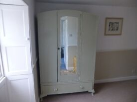 Shabby Chic light green wardrobe - good condition