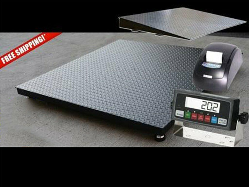 Selleton 2500 Lb X .5 Lb 5X4 60 X 48 Floor Scale//Pallet Scale with Ramp