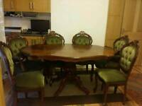 4 piece furniture set-dining table, cabinet, sofa and side table