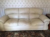 Leather 3 peice suite sofa armchair