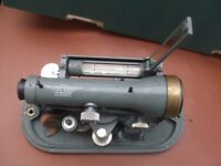 THEODOLITE LEVELLING TOOL OLD RARE WITH CASE.