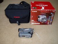Canon MV 600i camcorder plus carry case.