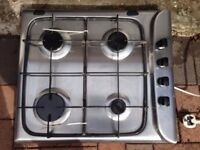 NEW Hotpoint Stainless Steel Gas Hob