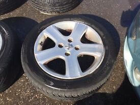 SET OF PEUGEOT 307 WHEELS & TYRES 16""