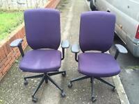 6 X Senator Evolve office task swivel operator chairs. Delivery