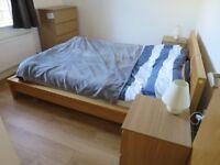 IKEA bed MALM + mattress