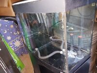 Fluval bowfront Aquarium 3ft holds 180lts with cabinet black