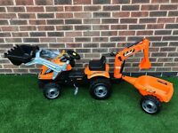 Orange Smoby builder max tractor